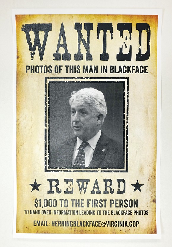 The Republican Party of Virginia is offering a $1,000 reward for photographic evidence of Virginia Attorney General Mark R. Herring ...