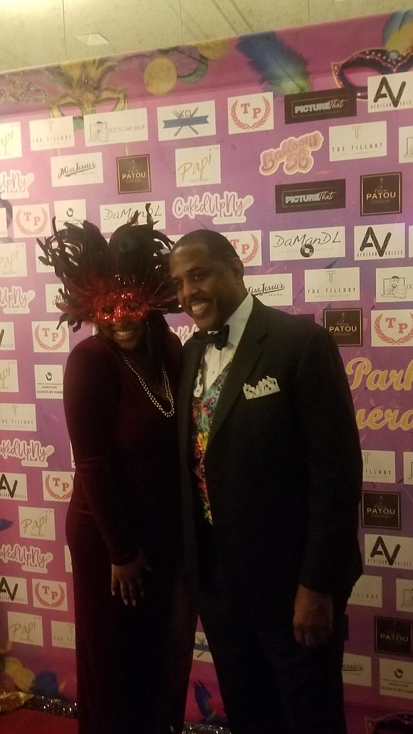 With massive cake, masquerade masks, good food, music and friends State Senator Kevin Parker partied the night away.