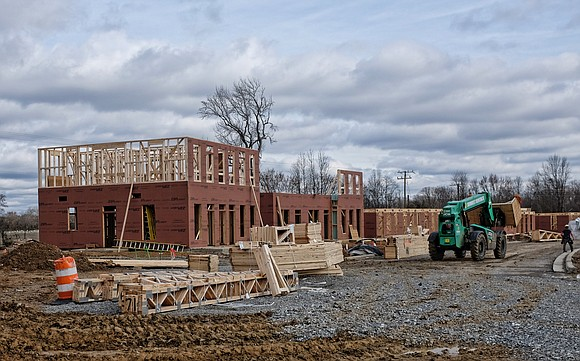 Church Hill North is going vertical three years after ground was broken for the development at the former site of ...