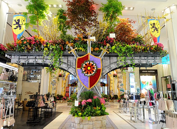 """Journey Through Paradise"" is the theme of this year's annual flower show at Macy's Herald's Square, running March 24 through ..."