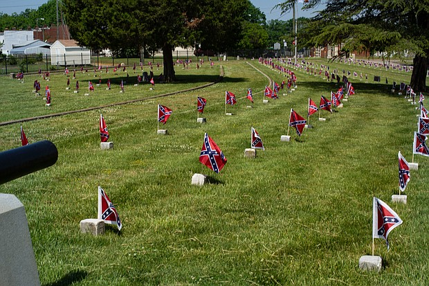 The Virginia General Assembly set up a $30,000 perpetual care fund in 1930 to care for the Confederate gravesites at Oakwood Cemetery.