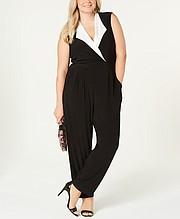 Love Squared Plus Size Tuxedo Jumpsuit, $59.00
