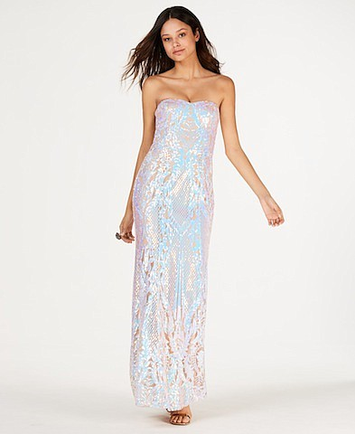 Say Yes to the Prom Iridescent Sequin Gown, Created for Macy's, $189.00