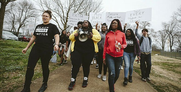 Students at Charlottesville High School in...