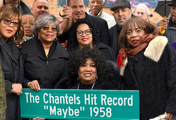 On April 5, famed '50s female group The Chantels received a commemorative street sign at the corner of West 166th ...