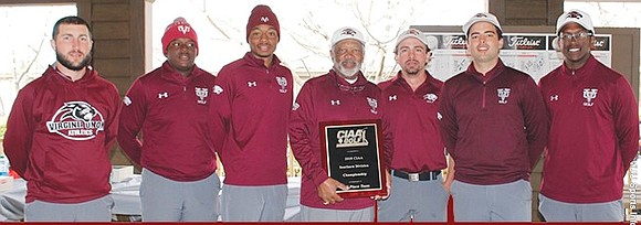 Three down and one to go. The Virginia Union University golf team is nearing a clean sweep of CIAA tournaments. ...