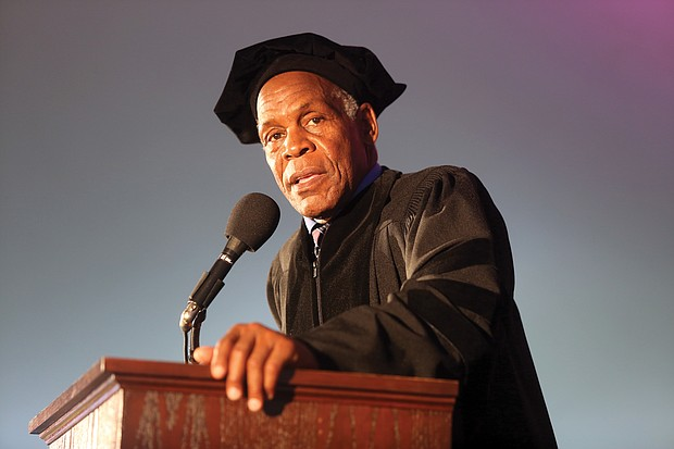 "Award-winning actor and human rights advocate Danny Glover tells Virginia Union University graduates last Saturday to make their own ""contributions to the cycle of history."""
