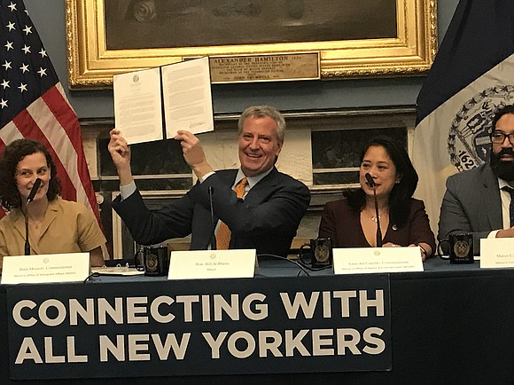 With the stroke of a pen, Mayor Bill de Blasio increased the advertising revenue for ethnic and community media, directing ...