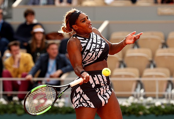Serena Williams made her first appearance at the French Open after officials banned the black catsuit she wore during last ...