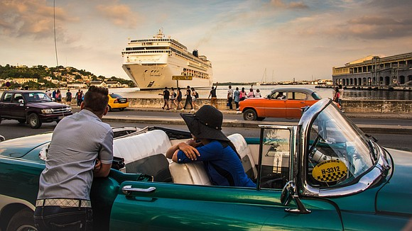 The last remaining US cruise ship in Havana Harbor, Royal Caribbean's Empress of the Seas, departed Cuba on Wednesday afternoon.