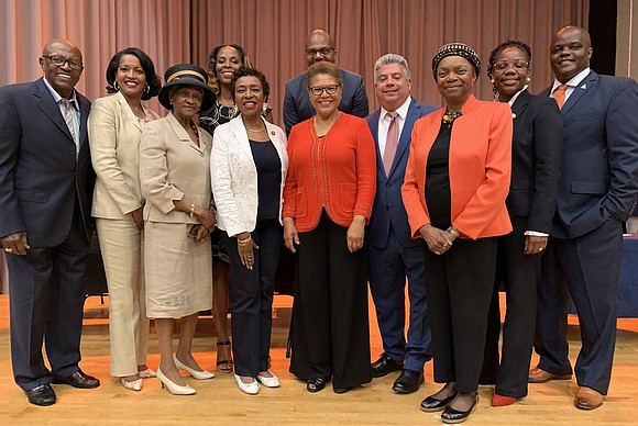 Congresswoman Yvette Clarke hosted The Congressional Black Caucus—The State of Black America in Brooklyn at I.S. 392 in Brownsville, Brooklyn ...