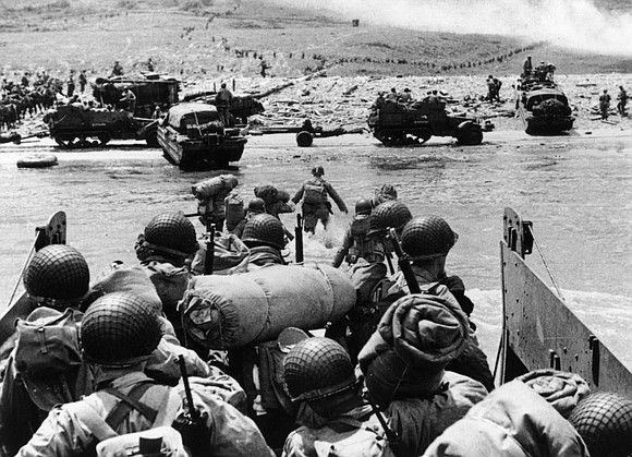The D-Day allied invasion of Normandy began with paratroopers and soldiers coasting through the air on gliders in the darkness ...