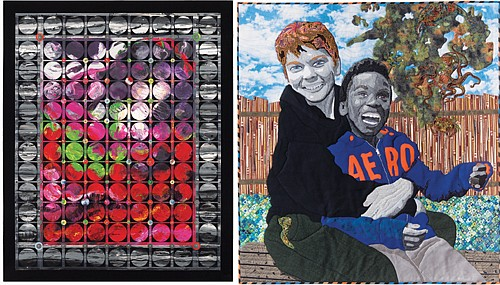 """A quilt by Judith Quinn Garnett is from a collection of art quilts made in Portland that are on display this summer at the Oregon Historical Society (left) and 'Equal Value, Different Shades"""" is the title of Sherri Culver's creative quilt."""