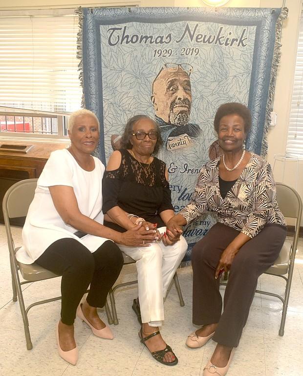 Lee Kirk, Irene Matthews and Eunice Newkirk