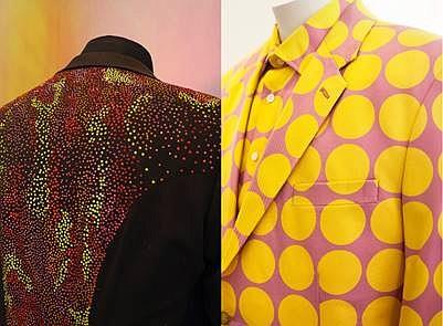 Elton John's patterned outfits designed by Richard James Saville Row