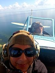 Lisa and Ted on Bi-Plane Tour