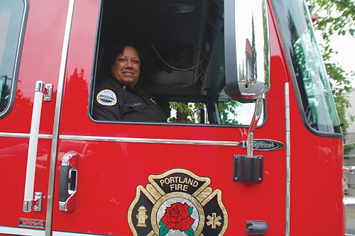 New Portland Fire & Rescue Chief Sara Boone gets introduced to the community.