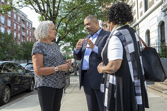 Former New York State Chief Deputy Attorney General Alvin Bragg announces his candidacy for Manhattan District Attorney challenging incumbent District ...