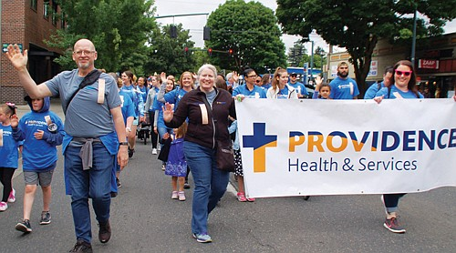 Providence Health and Services employees and family members show their community pride.