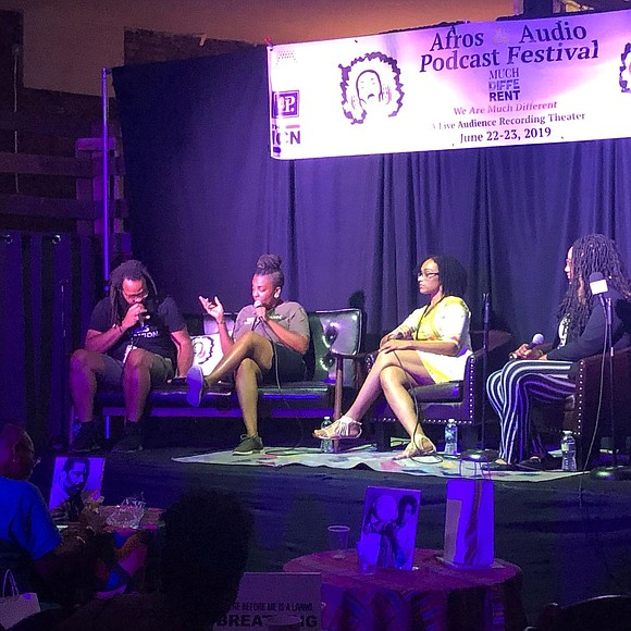 Black podcast coalition Afros & Audio hosted its inaugural two-day festival at live recording audience theater We Are Much Different ...