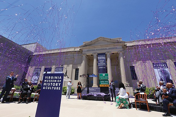 Local, state and national figures joined a crowd of thousands Saturday at the Virginia Museum of History & Culture to ...