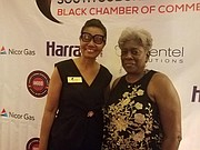 Guest Debra Summers and Black Chamber member Diane Harris at the South Suburban Region Black Chamber