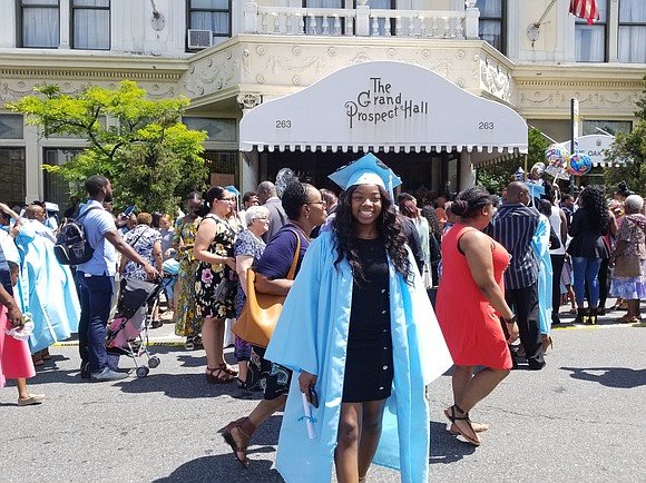 Brooklyn's Grand Prospect Hall was the beautiful venue for the 2019 graduating class of the Brooklyn High School of the ...