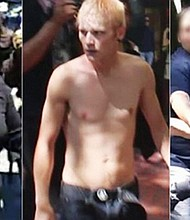 The Portland Police Bureau released images of three suspects wanted for robbery and assault in connection to violent protests in Portland on Saturday.