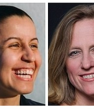 Tiffany Cabån and Melinda Katz
