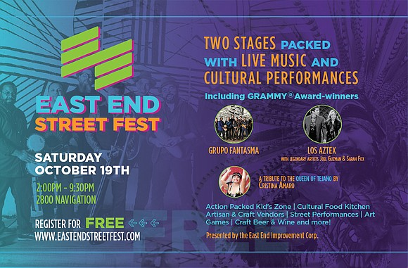 The East End Improvement Corporation (501c3) proudly announces the 2019 East End Street Fest, taking place on Saturday, October 19 ...