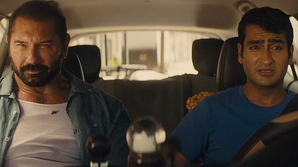 Stu (Kumail Nanjiani), a mild-mannered sporting goods clerk, moonlights as an Uber driver.