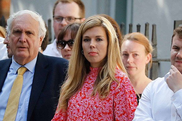 Boris Johnson and his girlfriend Carrie Symonds moved into Downing Street on Monday, the new UK prime minister's spokeswoman said.