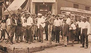 It was July 27, 1919 when 17-year-old Eugene Williams was stoned by whites and drowned after he his raft accidently crossed the unofficial barrier between Chicago's white and black beaches at 29th Street now renamed 31st Street Beach. Seven days of rioting followed and ended on Aug. 3, but not before 38 people died (23 blacks and 15 whites), 537 injured and more than 1,000 people left homeless due to arson. Photo Courtesy: City of Chicago