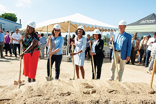 Meyer Memorial Trust broke ground Monday for its new headquarters in a historically black neighborhood in north Portland that has ...