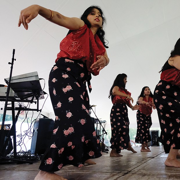 Fun at RVA Community Fun Day/ A Panamanian dance is performed by La Palma Dance, during last Saturday's RVA Community Fun Day in Henrico's Dorey Park. (Sandra Sellars/Richmond Free Press)