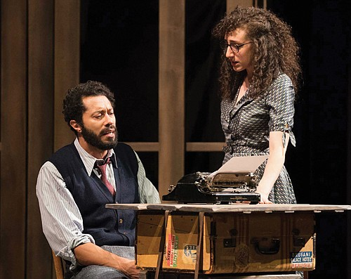 """William DeMerrit (left) and Shayna Blass co-star in """"Indecent,"""" the ethnically diverse exploration of Jewish identity which utilizes a touchstone of Yiddish theater, the 1906 play """"The God of Vengeance,"""" as the vehicle to explore a vibrant lost history of a piece written ahead of its time."""