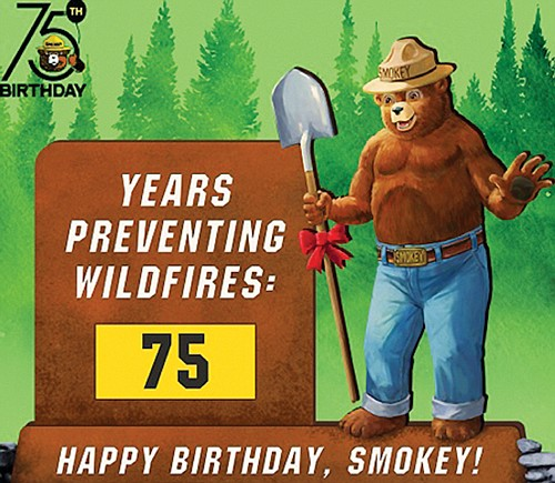 Kids and their families are invited to celebrate Smokey Bear's 75th birthday with a free event for kids and their ...
