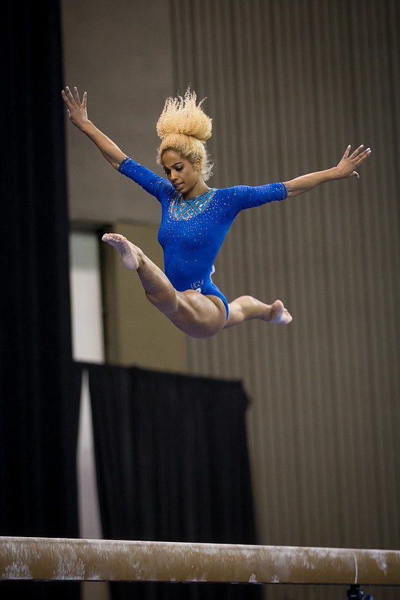 Already back at training the day after returning from the Pan American Games in Lima, Peru, gymnast Danusia Francis allowed ...