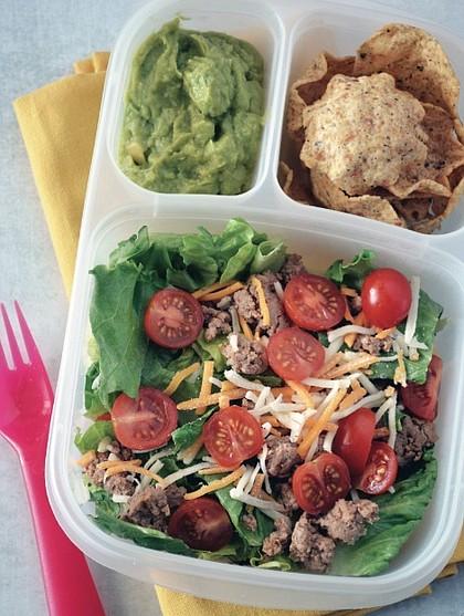 Turkey Taco Salad Bento Box