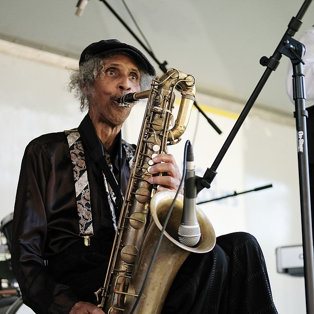 Music for the spirit/ The legendary Doc Branch and the Keynotes at the 11th Annual St. Elizabeth Catholic Church Jazz & Food Festival, a fundraiser held last Saturday for the Highland Park parish and its various ministries. (Sandra Sellars/Richmond Free Press)