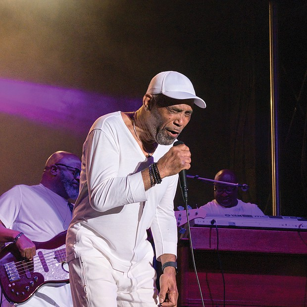 Frankie Beverly hits the high notes with Maze in Sunday's finale the 10th Annual Richmond Jazz and Music Festival at Maymont. The event is produced by JMI.