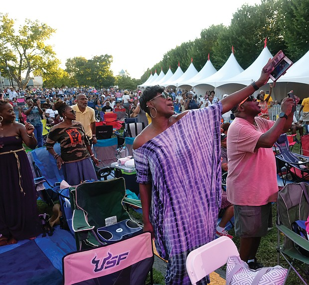 The musicians draw cheers and loud applause from an appreciative crowd that enjoyed the music over the two days at the 10th Annual Richmond Jazz and Music Festival at Maymont.