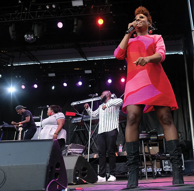 Ledisi performed on Sunday evening at the 10th Annual Richmond Jazz and Music Festival at Maymont.