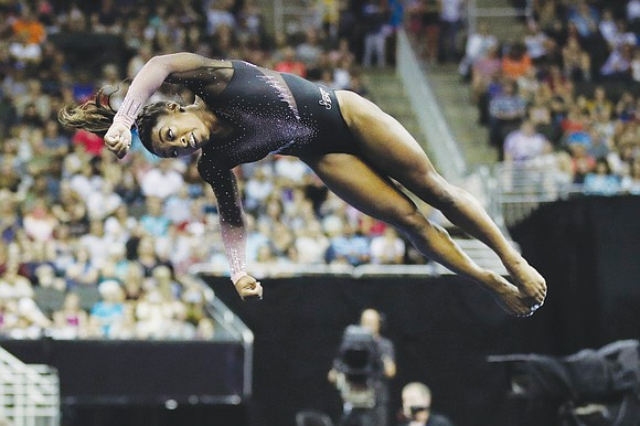 Four-time Olympic gold medalist Simone Biles reasserted her position as the world's unrivaled No. 1 gymnast with an amazing winning ...