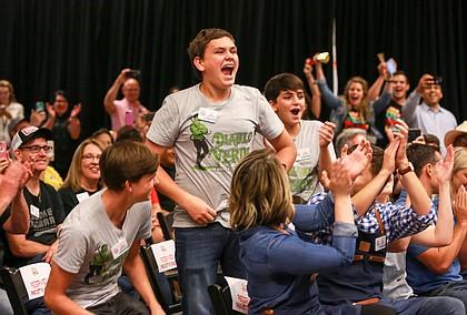 3 Sons Foods, LLC, Diablo Verde Sauce - George (11), Luke (14) and Ayden (16) celebrate their win