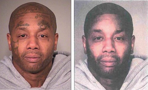 The manipulation of a photo from a lineup of suspects in which police used Photoshop to remove facial tattoos on ...