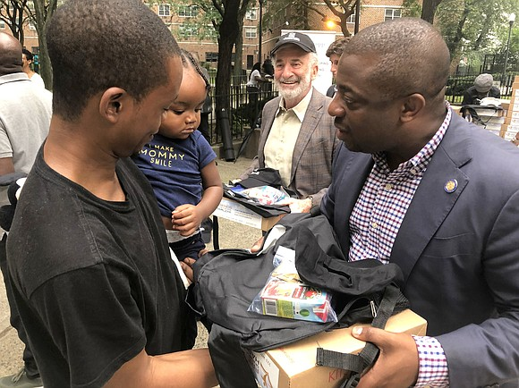 Helping Harlem children got ready for the first day of school with the resources they need to succeed.