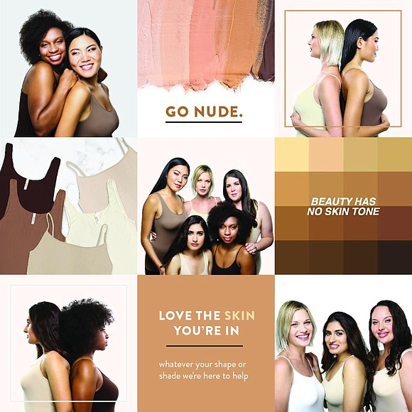 "In the world of fashion ""nude"" once meant simply white, black or various tones of beige."