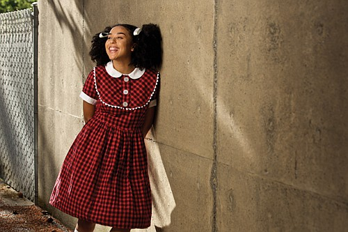 """Lauren Steele of Portland portrays 13 different characters in the West Coast premiere of  """"Queens Girl in the World,"""" a coming-of-age story about a young black girl in the 1960s."""