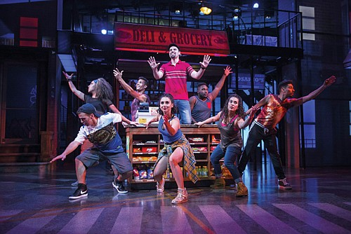 """Cast members from """"In the Heights,"""" a sizzling summer musical that launches Portland Center Stage at The Armory's new 2019-20 season. The story follows a tight-knit group of friends and neighbors who struggle to achieve their dreams in New York's diverse Washington Heights neighborhood."""